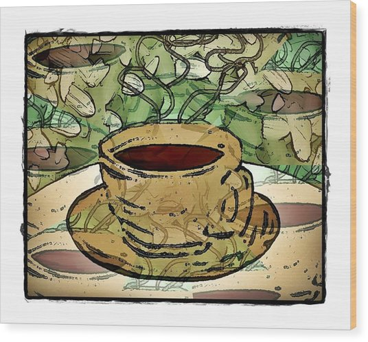 I Dream Of Coffee Wood Print by Terry Mulligan
