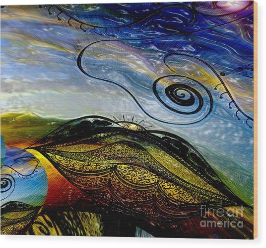 I Dream The Dawn Wood Print