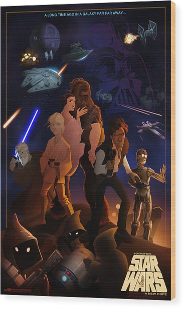 I Grew Up With Starwars Wood Print