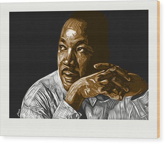 Wood Print featuring the digital art I Have A Dream . . . by Antonio Romero