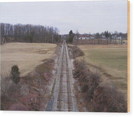 I Hear That Train A Comin' Wood Print