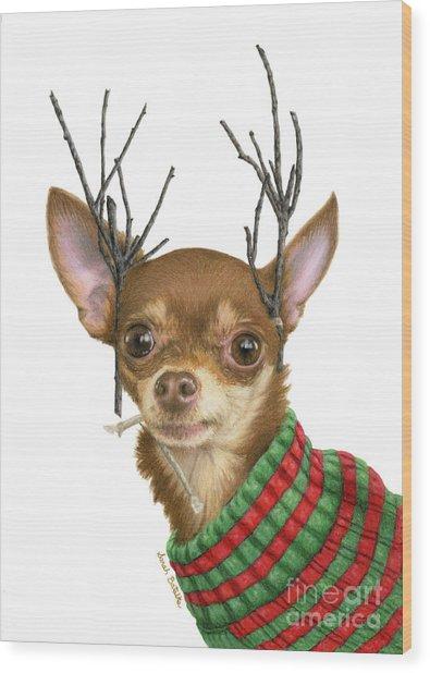 What Do You Mean Santa's Got Enough Reindeer? Wood Print