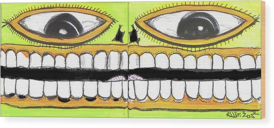 I Like 2 Smile Wood Print by Robert Wolverton Jr