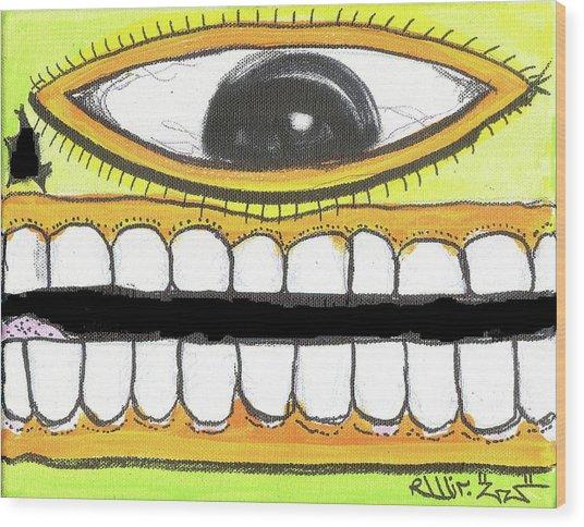 I Like 2 Smile Rs Wood Print by Robert Wolverton Jr