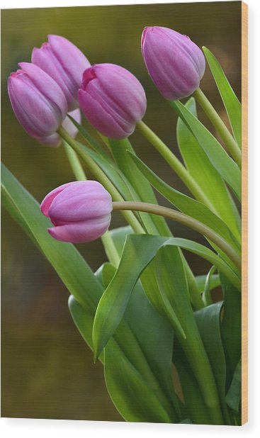 I Love Pink Wood Print