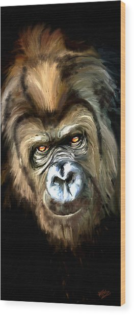 Gorilla Portrait Wood Print