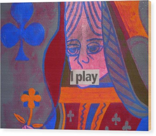 I Play Wood Print by Heinrich Haasbroek