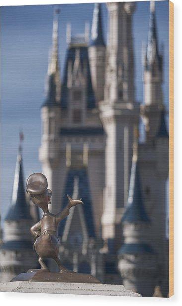 I Present You Cinderella's Castle Wood Print