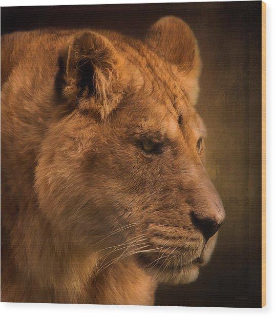I Promise - Lion Art Wood Print