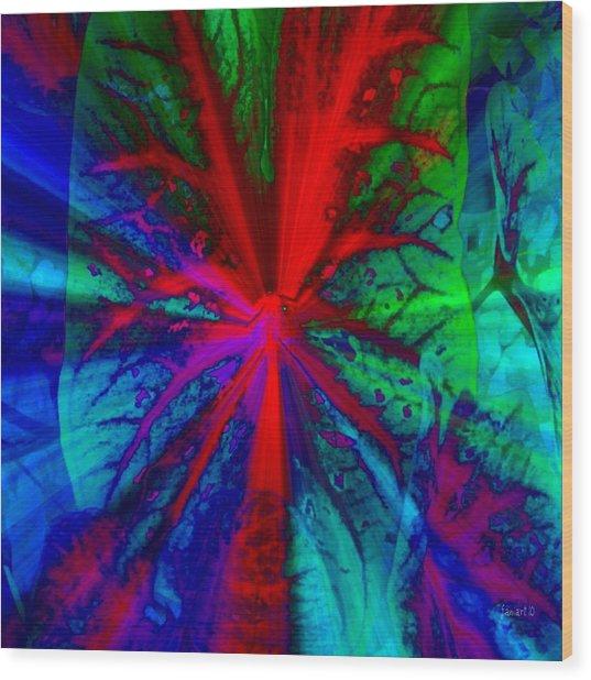 I Promised You Colors Wood Print by Fania Simon