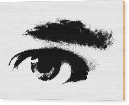 I Se You Wood Print by Robert Litewka