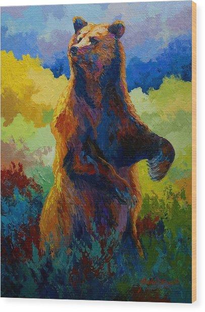 I Spy - Grizzly Bear Wood Print