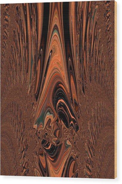 I Think I Am Sad-said The Little Clown Wood Print by Sherri's - Of Palm Springs