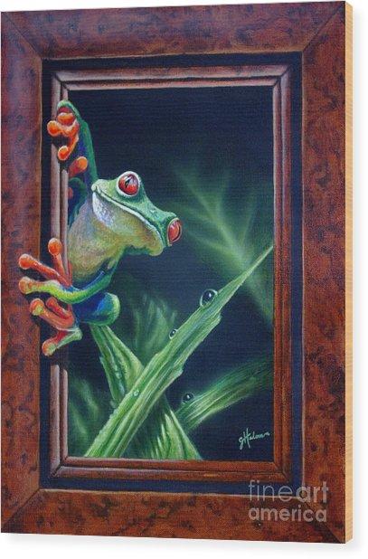 'i Was Framed' Wood Print