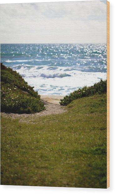 I Will Follow - Ocean Photography Wood Print