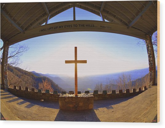 I Will Lift My Eyes To The Hills Psalm 121 1 Wood Print