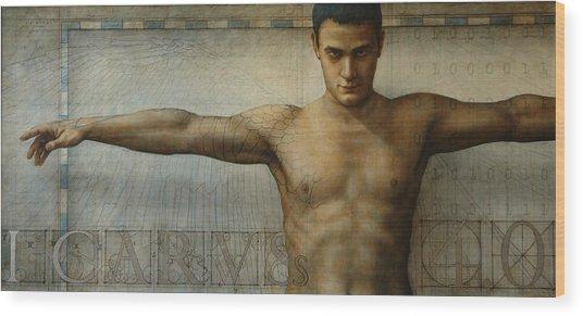 Icarus 4.0 Wood Print by Jose Luis Munoz Luque