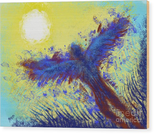 Wood Print featuring the digital art Icarus by Antonio Romero