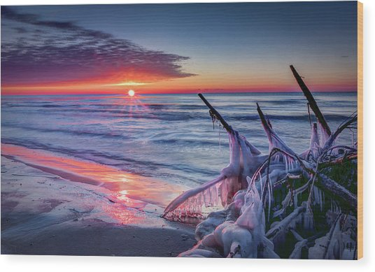 Ice Age Sunrise 1 Wood Print