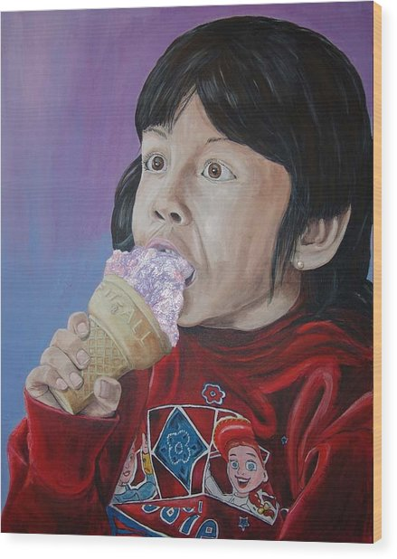 Ice Cream Wood Print by Kevin Callahan