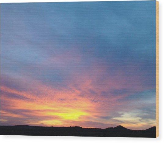 Ice Cream Sunset Wood Print by Ana Villaronga