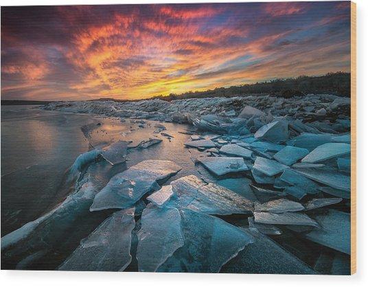 Ice Floe Wood Print