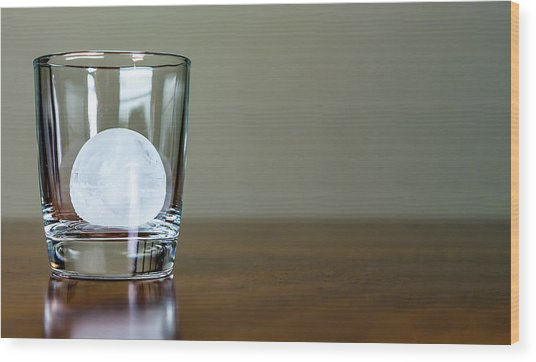 Ice For Whisky Or Cocktail Wood Print