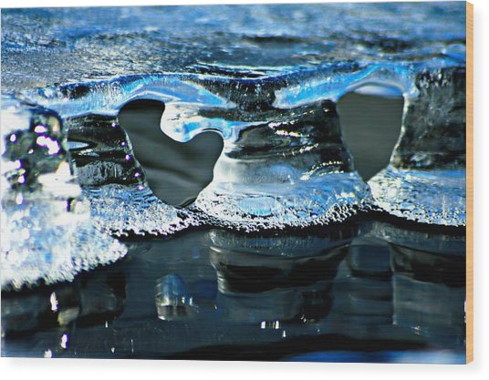 Ice Formation 10 Wood Print