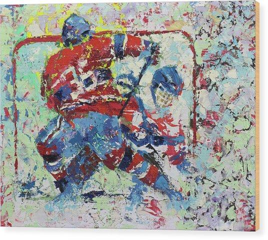 Ice Hockey No1 Wood Print