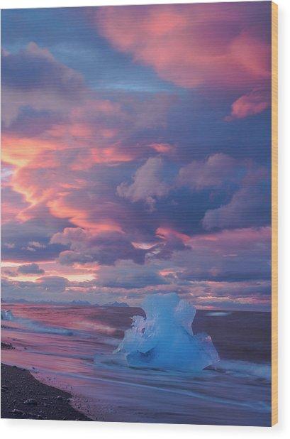 Ice Ignites Wood Print
