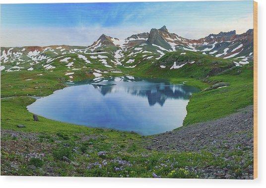 Ice Lake Panorama Wood Print by Johnny Adolphson