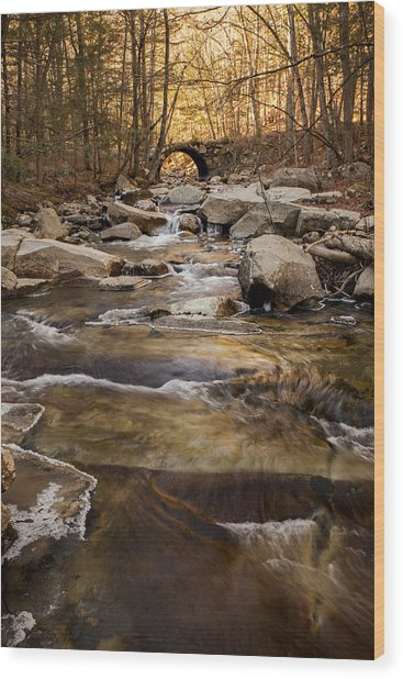 Ice On Stickney Brook Wood Print