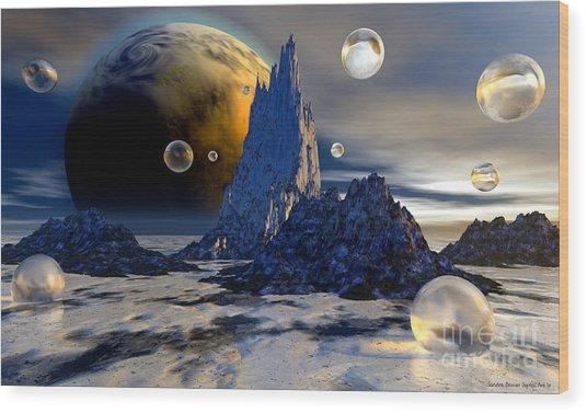 Ice Planet Wood Print by Sandra Bauser Digital Art