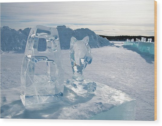 Ice Sculpture Wood Print