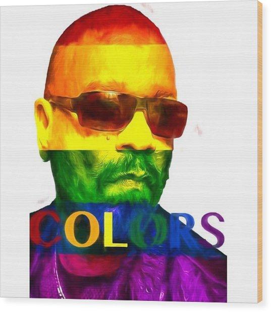 Ice-t Colors The Ganga Of La Will Never Wood Print