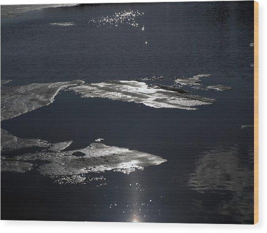 Ice Water Wood Print by Stan Wojtaszek