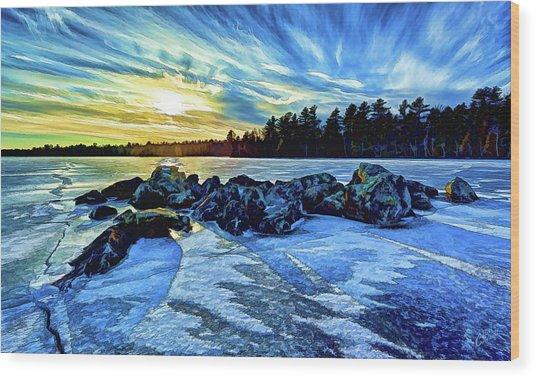 Icebound 5 Wood Print