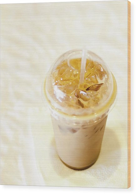 Iced Coffee 1 Wood Print