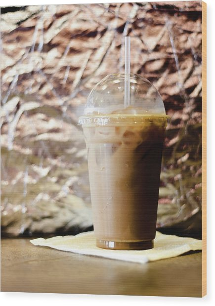 Iced Coffee 2 Wood Print