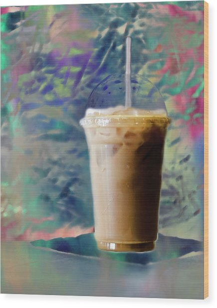 Iced Coffee 3 Wood Print