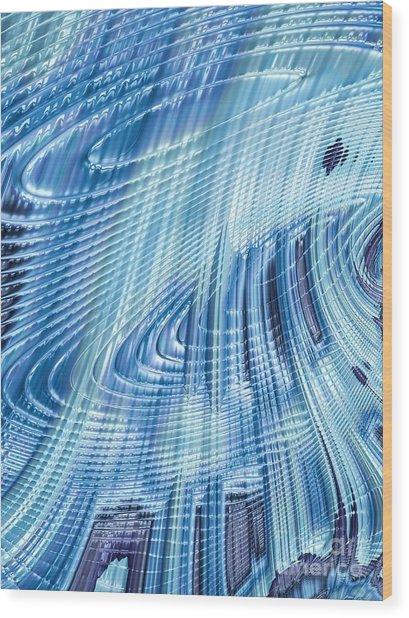 Icefall Wood Print