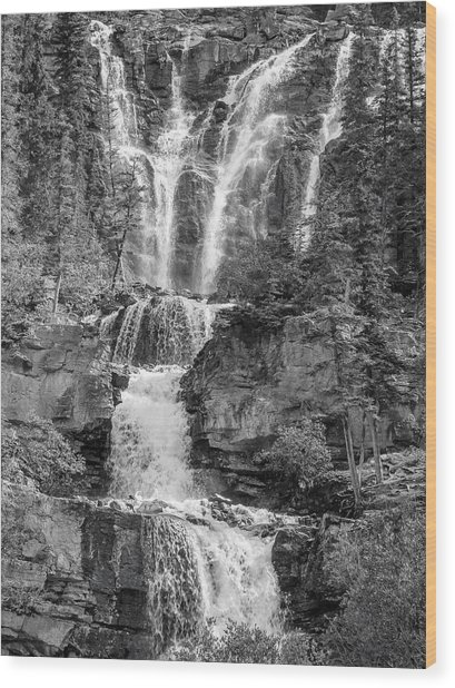 Icefields Waterfall Wood Print