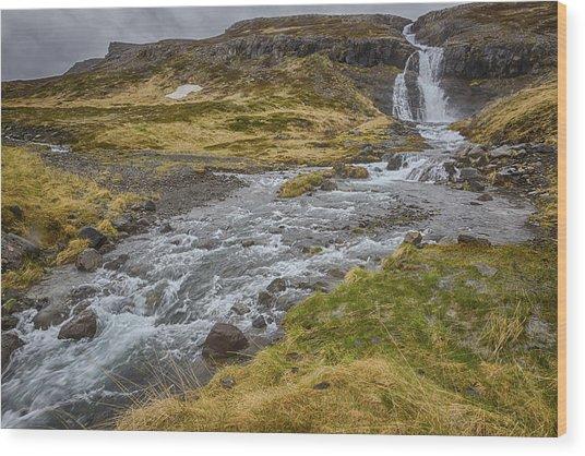 Iceland Fjord Wood Print