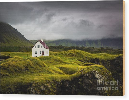 Iceland Scene Wood Print