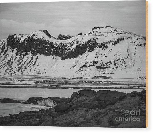 Icelandic Idyll Near Vik Wood Print