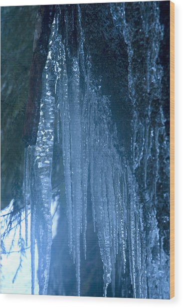 Icicles  5 Wood Print by John Higby