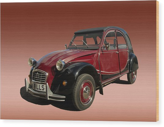 Iconic Car Wood Print