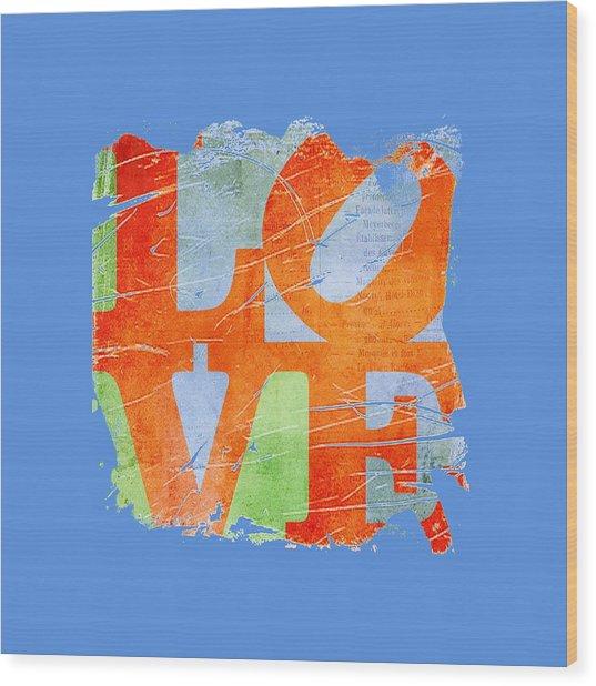 Iconic Love - Grunge Wood Print