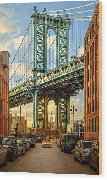 Iconic Manhattan Wood Print by Az Jackson