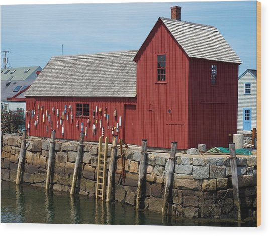 Iconic Rockport Ma Wood Print